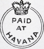 marca postal agencia britanica Cuba